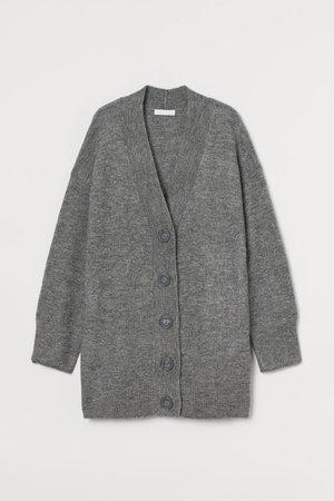 Knitted cardigan - Grey marl - Ladies | H&M
