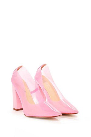 Barbie Girl Perspex Court Heel | Shop Clothes at Nasty Gal!