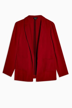 Red Chuck On Jacket | Topshop red