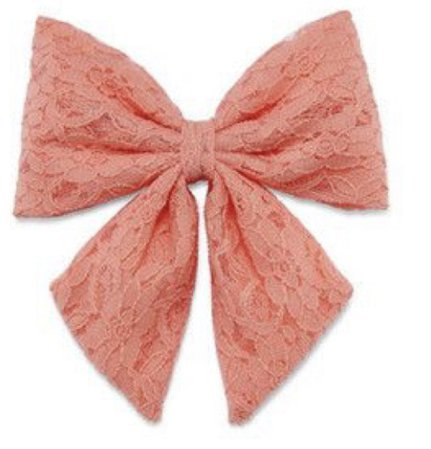 pink hair tie bow