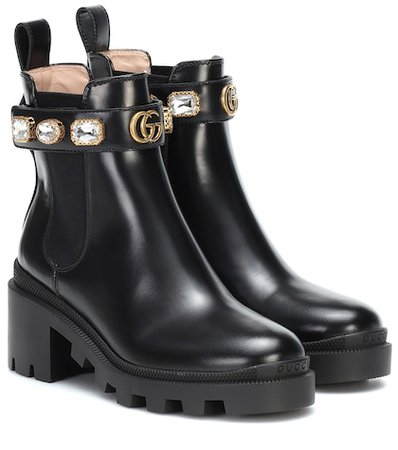 Leather Ankle Boots | Prada - Mytheresa