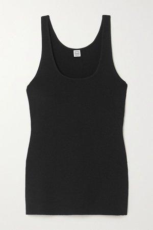 Black Urda knitted tank | Totême | NET-A-PORTER