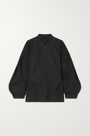 Cotton-poplin Shirt - Black