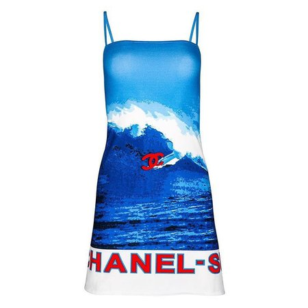 Chanel by Karl Lagerfeld spring 2002 surf collection dress
