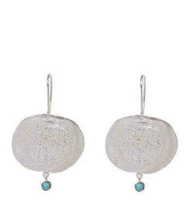 Danai Giannelli Constantinato Silver Turquoise Earrings < Danai Giannelli List | aesthet.com