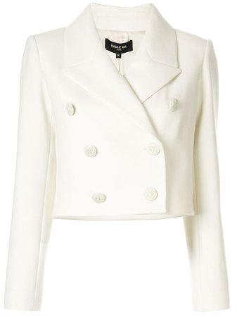 Shop white Paule Ka tricotine cropped blazer with Express Delivery - Farfetch