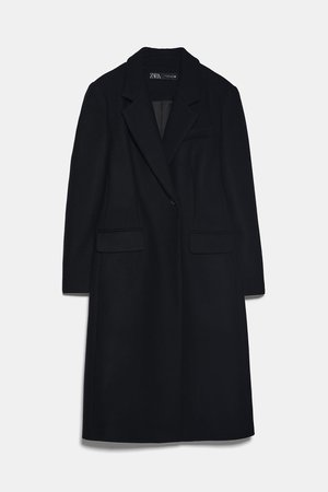 LONG TAILORED COAT - BEST SELLERS-WOMAN | ZARA United States black