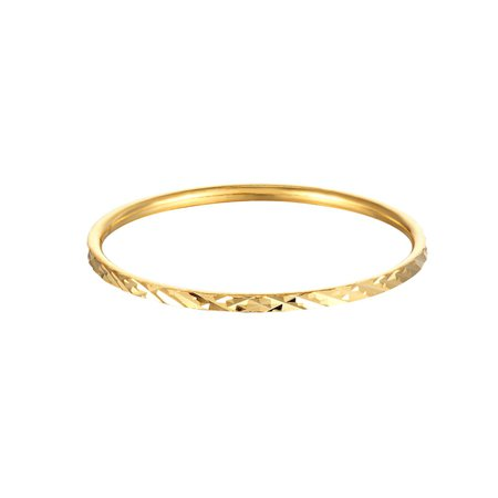 18Ct Gold Vermeil Geometric Patterned Stacking Ring | SEOL + GOLD | Wolf & Badger