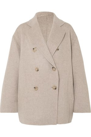 Acne Studios   Odine double-breasted wool and cashmere-blend coat   NET-A-PORTER.COM