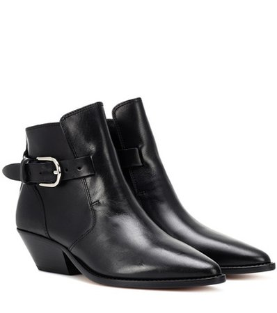Santiag leather ankle boots