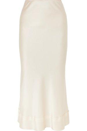 Lee Mathews   Stella silk-satin midi skirt   NET-A-PORTER.COM
