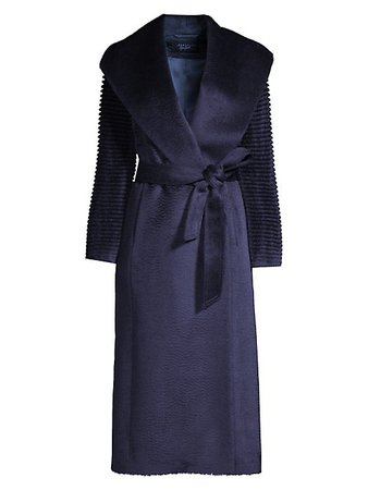 Sentaler Alpaca Shawl Collar Wrap Coat | SaksFifthAvenue