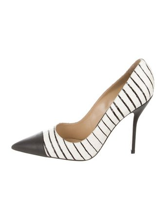 Paul Andrew Embossed Leather Pointed Pumps - Shoes - PAA22645 | The RealReal