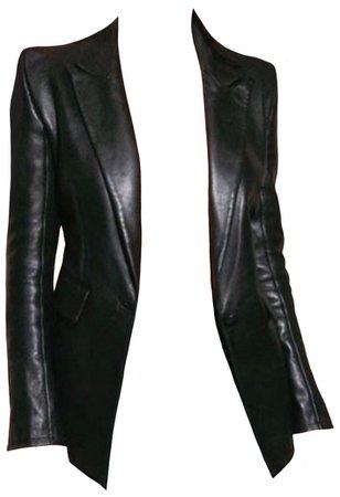 UNTTLD Black Faust Faux Leather Blazer