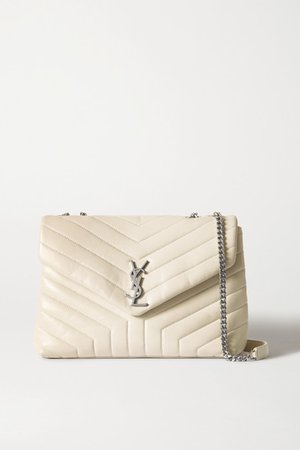 Loulou Medium Quilted Leather Shoulder Bag - Off-white