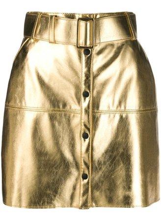 golden pencil skirt