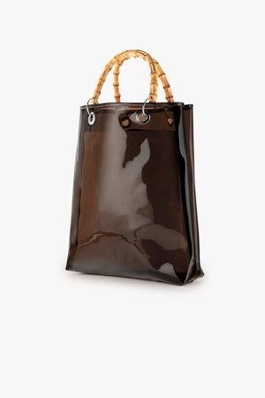 PVC Tote with Bamboo Handles – Genuine People