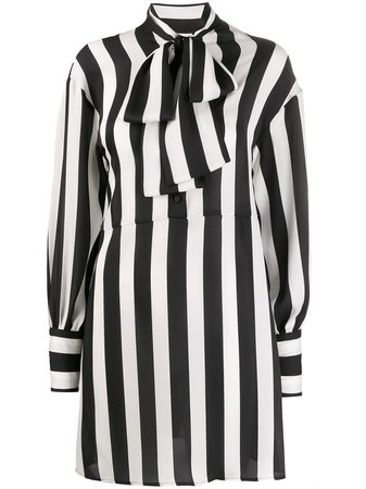 MSGM Striped Shirt Dress - Farfetch