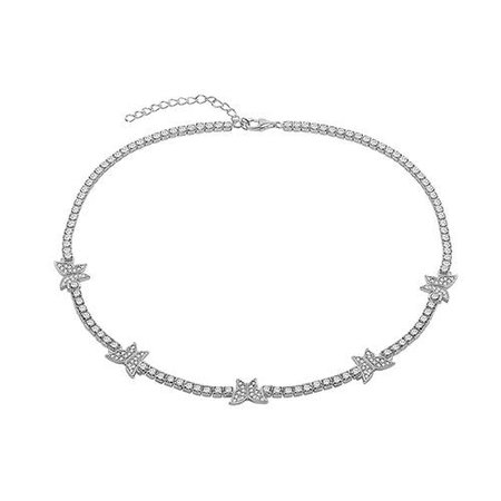 THE PAVE' BUTTERFLY COLLAR NECKLACE – The M Jewelers