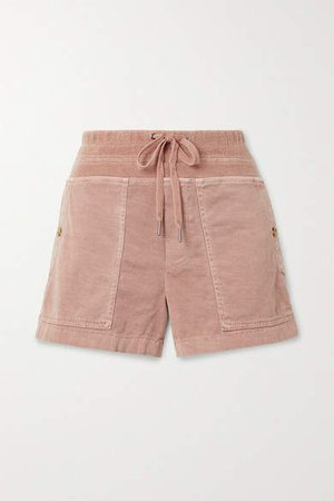 Military Cotton-blend Shorts - Pink