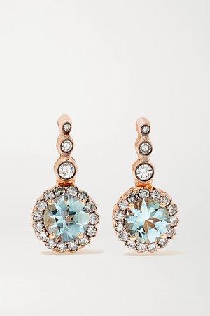 Rose gold Beirut Basic 18-karat rose gold, aquamarine and diamond earrings | Selim Mouzannar | NET-A-PORTER
