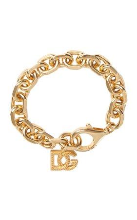 Dolce & Gabbana Gold-Tone Brass Chain Bracelet