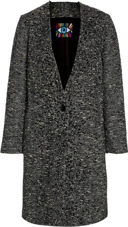Libertine Sparkle Tweed Crystal-Embellished Coat