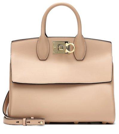 Studio leather shoulder bag