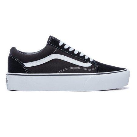 Platform Old Skool Shoes | Black | Vans