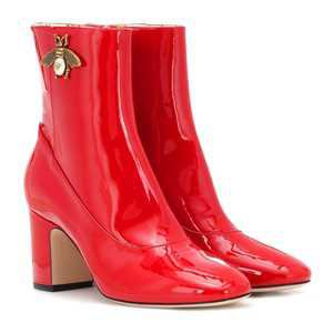 Patent Leather Ankle Boots - Gucci
