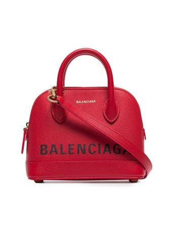 Balenciaga Red Ville XXS Leather Top Handle Bag - Farfetch
