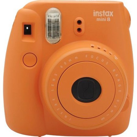 orange polaroid camera