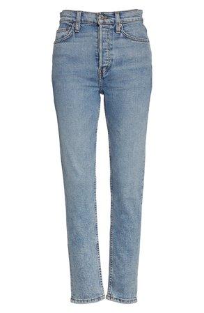 Re/Done Originals High Waist Stretch Crop Jeans (Mid 70s) | Nordstrom