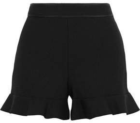 Ruffle-trimmed Cady Shorts
