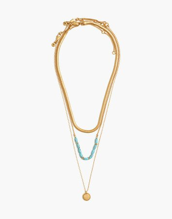 Westward Layering Necklace Set gold