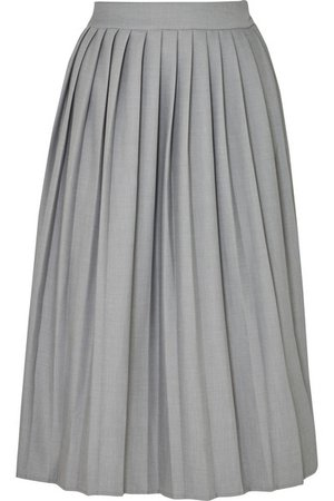 Georgia Alice | Bobby pleated woven midi skirt | NET-A-PORTER.COM