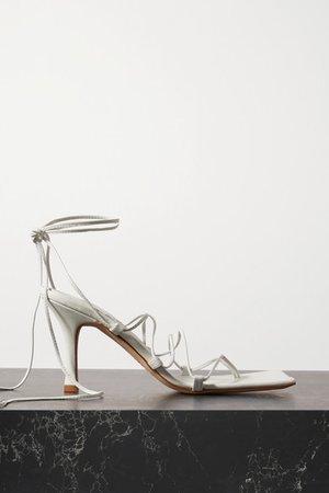 Rita Leather Sandals - White