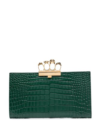 Alexander McQueen Embossed Knuckleduster Clutch Bag - Farfetch
