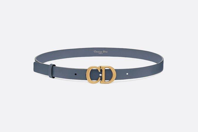 Saddle Belt Blue Denim Calfskin, 20 MM - Accessories - Women's Fashion | DIOR