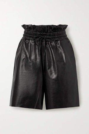 Amata Leather Shorts - Black