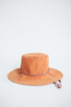 BUCKET HAT | ZARA United States orange