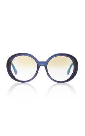 Leidy Acetate Round-Frame Sunglasses By Oliver Peoples   Moda Operandi