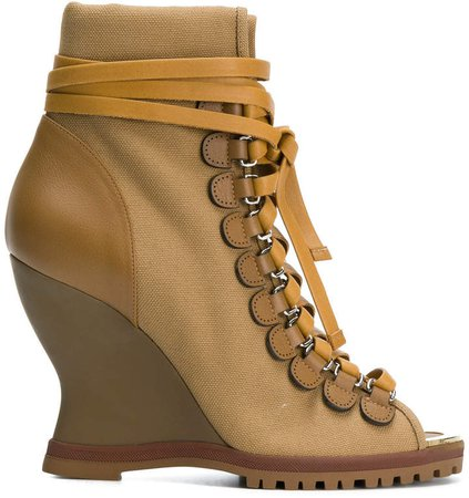 River wedge ankle boots