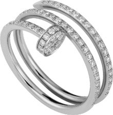 Cartier Juste un Clou ring - White gold, diamonds - Cartier