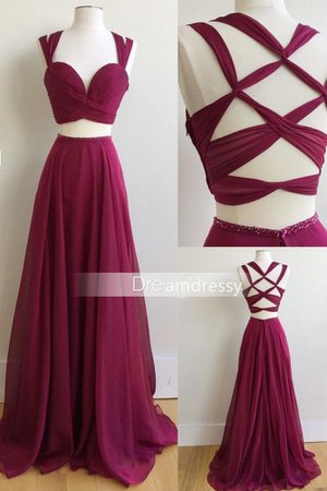 Two Piece Long Prom Dress, 2017 Burgundy Long Prom Dress, Formal Evening Dress on Storenvy