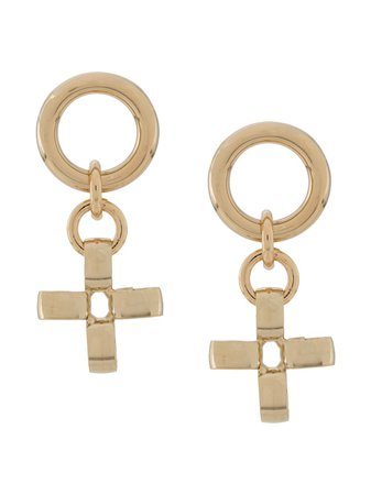 Laura Lombardi Fiore Cross Earrings - Farfetch