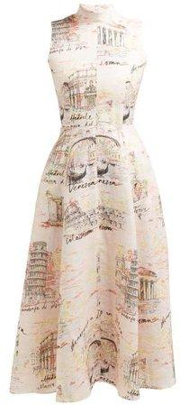 Sheila Italy Print Midi Dress - Womens - Pink Print
