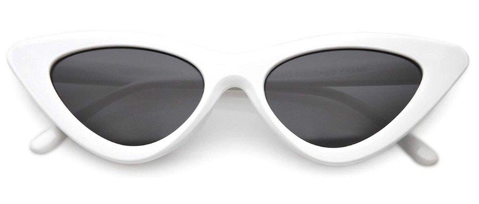 SunglassesLA retro white sunglasses