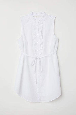 MAMA Sleeveless Blouse - White