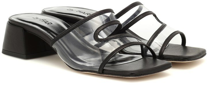Lola leather and PVC sandals